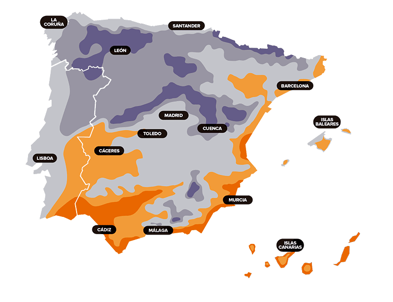 mapa calor espana - Calculator