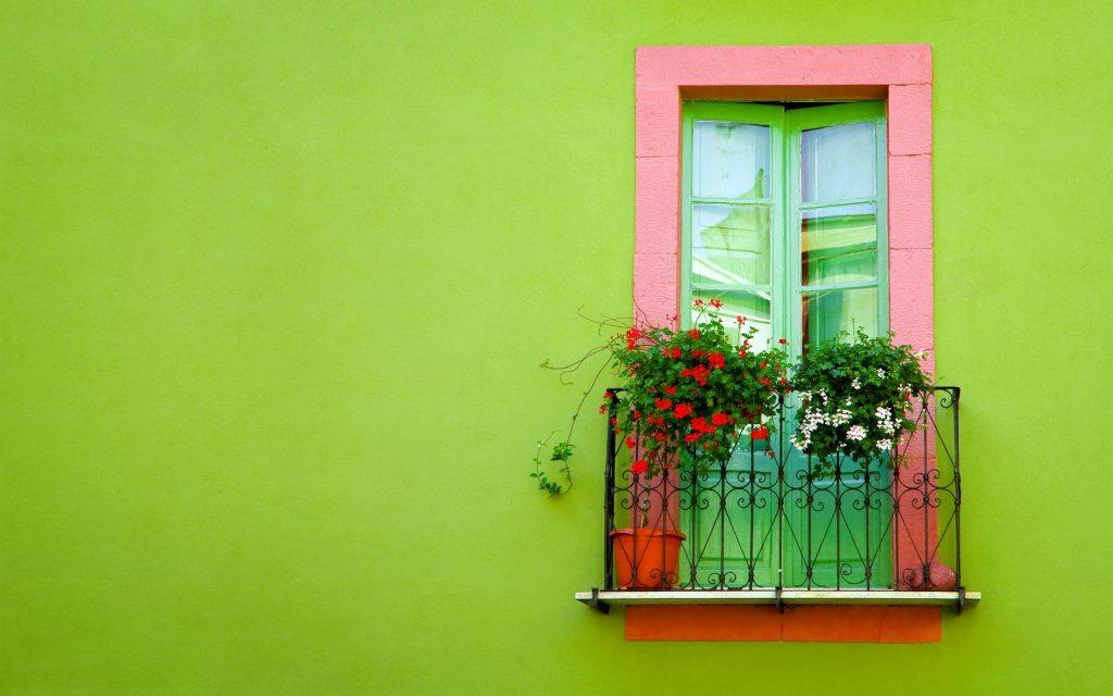 a-window-balcony-wall-green