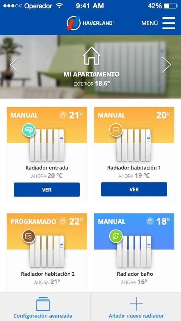 APP Haverland para emisores térmicos Wi