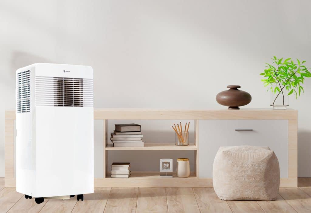 aire acondicionado portátil desinfectante en estancia